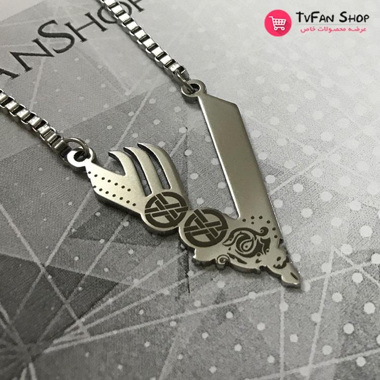 TvFanShop Vikings V Logo Necklace_3-min