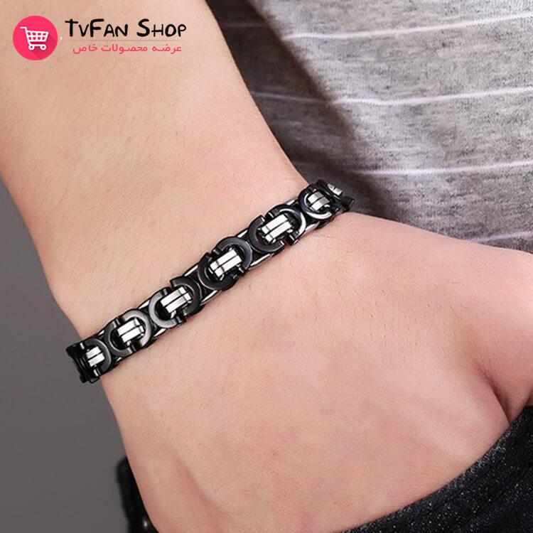 Stainless Steel Bracelet_Silver_&_Black_2