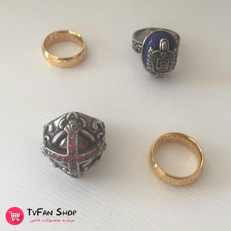 انگشتر خونآشام - حلقه ارباب حلقهها - انگشتر استیل دیمن سالواتوره