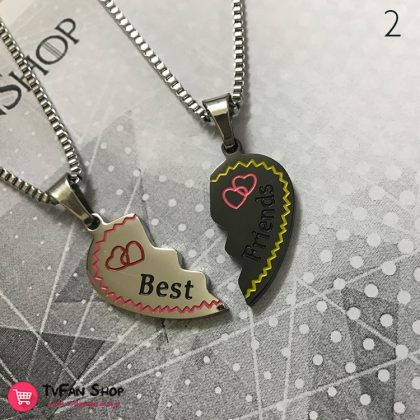 گردنبند قلب Best Friend (دو تکه) (چهار مدل)